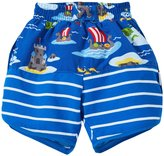 I Play Board Shorts With Built-in Swim Diaper (Baby) - Royal Viking Sea - 18-24 Months