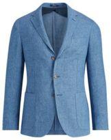 Ralph Lauren Morgan Linen Suit Jacket Navy And Black 38
