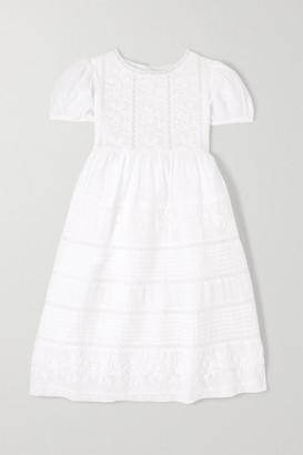 LoveShackFancy Kids - Holly Crochet-paneled Cotton-voile Dress - White
