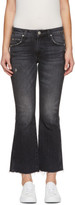 Amo Black Kick Crop Jeans