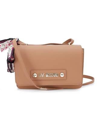 Love Moschino Accessories Scarf Detail Shoulder Bag Colour: BLACK, Siz