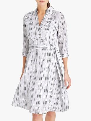 Damsel in a Dress Ennis Textured Dress, White/Black