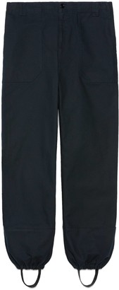 Gucci Washed cotton harem-style trousers