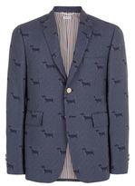Thom Browne Fine Check Dog Print Jacket
