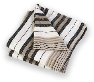 Brahms Mount Katahdin Multi-Stripe Throw Blanket
