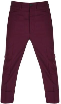Vivienne Westwood Wool Suit Trousers Red