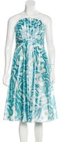 Badgley Mischka Strapless Midi Dress w/ Tags