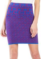 BCBGMAXAZRIA Aleksandra Geometric Knit Jacquard Power Skirt