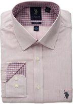 U.S. Polo Assn. Men's Slim Fit Semi Spread Collar Dress Shirt