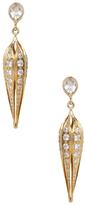 Ila Sienna 14K Yellow Gold, White Sapphire & 3.40 Total Ct. Diamond Lantern Earrings