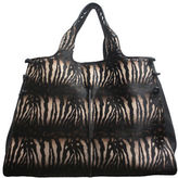 Sondra Roberts Zebra Patterned Leather Tote