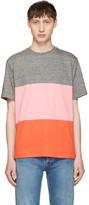 Paul Smith Grey & Pink Multistripe T-Shirt
