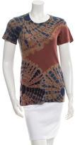 Raquel Allegra Tie-Dye Crew Neck T-Shirt