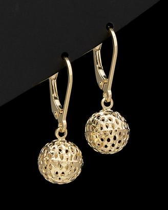 Italian Gold 14K Filigree Ball Earrings