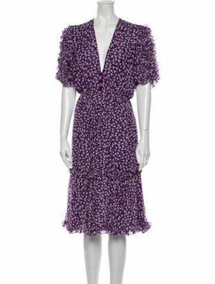 Adriana Degreas Silk Dress Purple