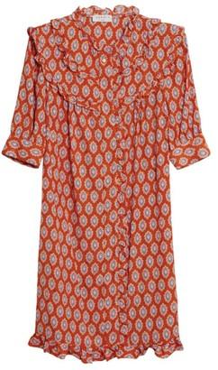 Sandro Paris Jacquard Frilled Mini Dress
