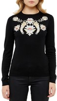 Ted Baker Floral Embroidered Sweater