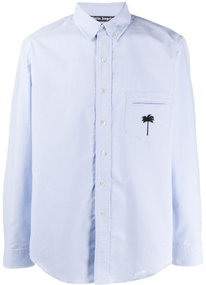 Palm Angels embroidered Oxford shirt