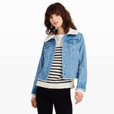 Club Monaco Sheelya Denim Sherpa Jacket