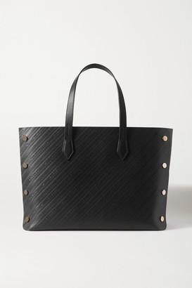 Givenchy Bond Medium Studded Embossed Leather Tote - Black