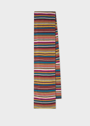 Paul Smith Men's Signature Stripe Wool And Cashmere-Blend Scarf