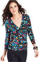 Cable & Gauge Top, Three-Quarter-Sleeve Twist Front