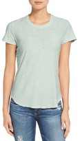 James Perse Women's Sheer Slub Crewneck Tee