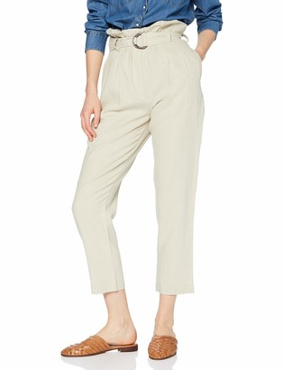 Find. Amazon Brand Women's Paper Bag Linen Trousers