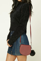 Forever 21 FOREVER 21+ Pom Pom Faux Leather Crossbody
