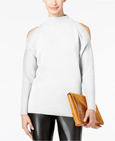 Alfani PRIMA Cold-Shoulder Mock-Neck Sweater, Only at Macy's