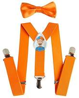 BLIPPI LLC Blippi Suspenders and Bow Tie for Children - Adjustable and Clip On