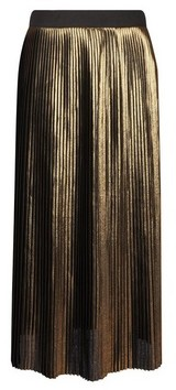 Dorothy Perkins Womens **Gold Pleated Skirt, Gold