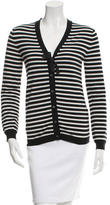 Jil Sander Striped Button-Up Cardigan
