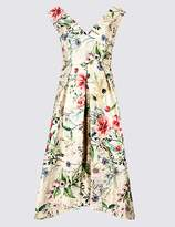 Marks and Spencer Floral Print Jacquard Prom Dress