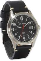 L.L. Bean L.L.Bean Vintage Field Watch, 42mm Leather