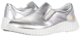 Johnston & Murphy Kimmie Perf (Silver Waterproof Nappa Leather) Women's Shoes