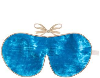 Holistic Silk Turquoise Silk Velvet Eye Mask