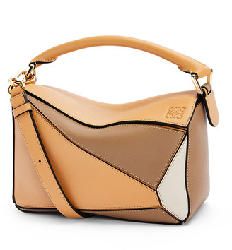 Loewe Puzzle Colorblock Small Satchel Bag
