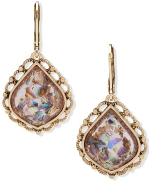 lonna & lilly Gold-Tone Stone Drop Earrings