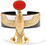 Givenchy Falcon Arm Cuff In Gold-tone, Enamel And Resin - One size