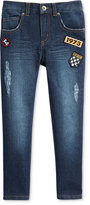 Epic Threads Patch Slim-Straight Denim Jeans, Little Boys (2-7), Only at Macy's