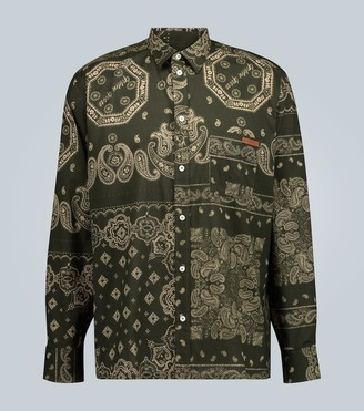 Golden Goose Houston bandana printed shirt