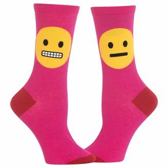 Hot Sox Womens Smiley Crew Socks Womens Shoe Size 4-10.5