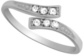 Giani Bernini Sterling Silver Crystal Bypass Adjustable Toe Ring