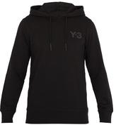 Y-3 Logo-print cotton hooded sweatshirt