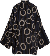Vivienne Westwood Joan Printed Cotton-blend Coat - Navy