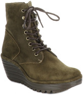 Fly London Ygot Suede Wedge Bootie