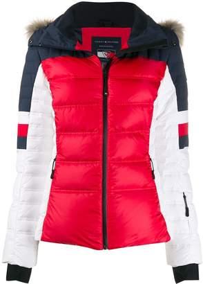 Tommy Hilfiger colour blocked padded jacket