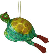 Christmas Shop Orn-Glass Diving Turtle Multi