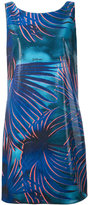Just Cavalli leaves print varnish dress